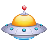 Flying Saucer Emoji on WhatsApp