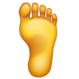 Foot Emoji on WhatsApp
