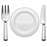 Fork and Knife With Plate Emoji on WhatsApp