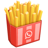 French Fries Emoji on WhatsApp