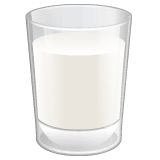 Glass of Milk Emoji on WhatsApp