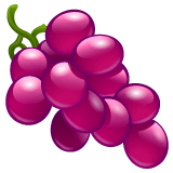 Grapes Emoji on WhatsApp