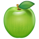 Green Apple Emoji on WhatsApp