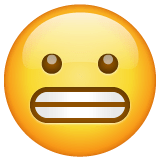 Grimacing Face Emoji on WhatsApp