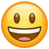 Grinning Face With Big Eyes Emoji on WhatsApp