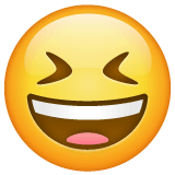 Grinning Squinting Face Emoji on WhatsApp