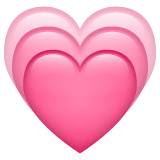 Growing Heart Emoji on WhatsApp