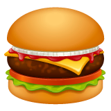 Hamburger Emoji on WhatsApp