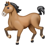 Horse Emoji on WhatsApp
