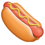 Hot Dog Emoji on WhatsApp