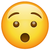 Hushed Face Emoji on WhatsApp