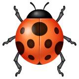 Lady Beetle Emoji on WhatsApp
