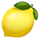 Lemon Emoji on WhatsApp