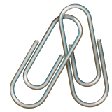 Linked Paperclips Emoji on WhatsApp