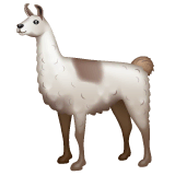 Llama Emoji on WhatsApp