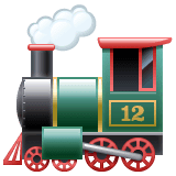 Locomotive Emoji on WhatsApp