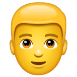 Man: Blond Hair Emoji on WhatsApp