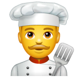 Man Cook Emoji on WhatsApp