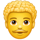Man, Curly Haired Emoji on WhatsApp