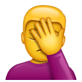 Man Facepalming Emoji on WhatsApp