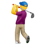 Man Golfing Emoji on WhatsApp