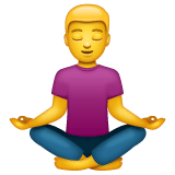 Man In Lotus Position Emoji on WhatsApp
