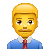 Man Office Worker Emoji on WhatsApp