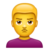 Man Pouting Emoji on WhatsApp