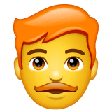 Man, Red Haired Emoji on WhatsApp