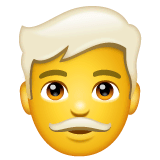 Man, White Haired Emoji on WhatsApp