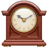 Mantelpiece Clock Emoji on WhatsApp