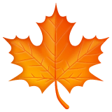 Maple Leaf Emoji on WhatsApp