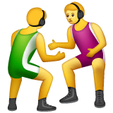 Men Wrestling Emoji on WhatsApp