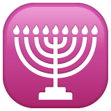 Menorah Emoji on WhatsApp