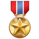 Military Medal Emoji on WhatsApp