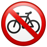 No Bicycles Emoji on WhatsApp