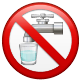 Non-Potable Water Emoji on WhatsApp