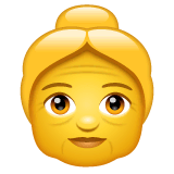 Old Woman Emoji on WhatsApp