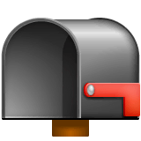 Open Mailbox With Lowered Flag Emoji on WhatsApp