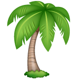 Palm Tree Emoji on WhatsApp