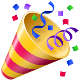 Party Popper Emoji on WhatsApp