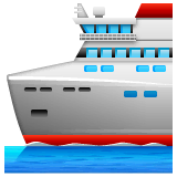 Passenger Ship Emoji on WhatsApp