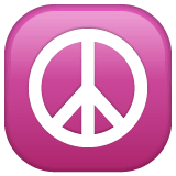 Peace Symbol Emoji on WhatsApp