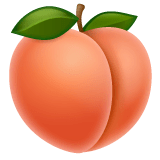 Peach Emoji on WhatsApp
