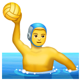 Person Playing Water Polo Emoji on WhatsApp