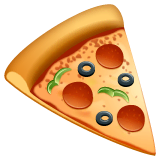 Pizza Emoji on WhatsApp