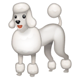 Poodle Emoji on WhatsApp