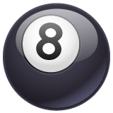 Pool 8 Ball Emoji on WhatsApp