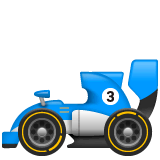 Racing Car Emoji on WhatsApp