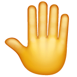 Raised Back of Hand Emoji on WhatsApp